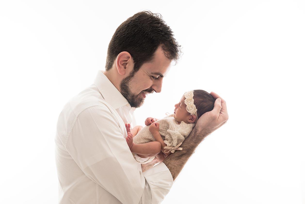 Ensaio newborn com pai