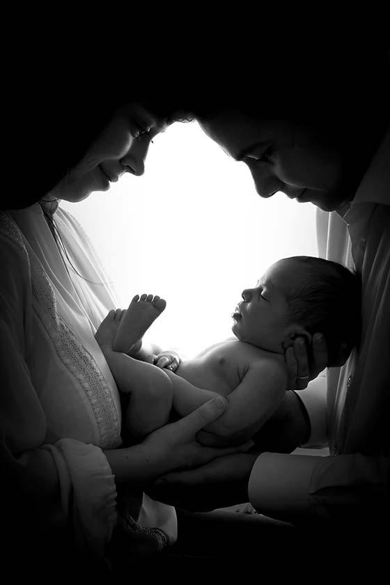 Ensaio newborn com pais